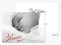 """Peace"" Holiday Photo Cards"